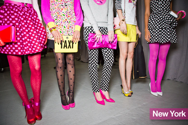 These Kate Spade girly girl styles have a punk flair.