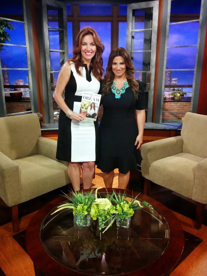 Host Wendy Griffith and I on the set with my new book, Designing Your Dream!