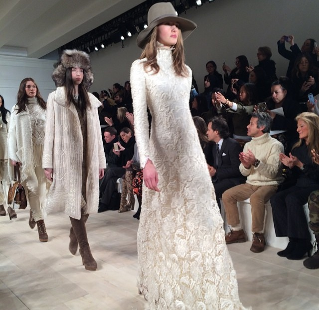 White texture ruled. This dress is a dream. @ #RalphLauren