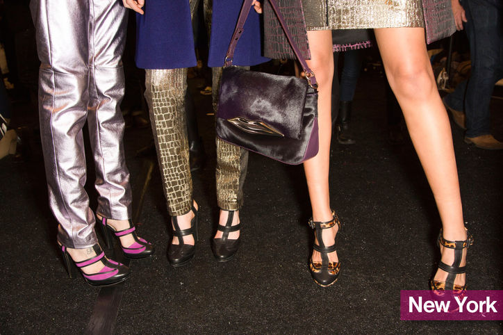 Cut outs are taking the lead this fall. These DVF's are a great choice.