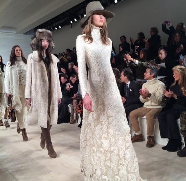 White texture ruled. This dress is a dream. @ #RalphLauren
